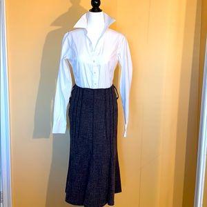 Vex Black and White Tweed Skirt